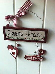 #x27;GRANDMA#x27;S KITCHEN LOVE SERVED HERE DAILY#x27; LOVELY SIGN FOR NAN#x27;S amp; GRANDMA#x27;S