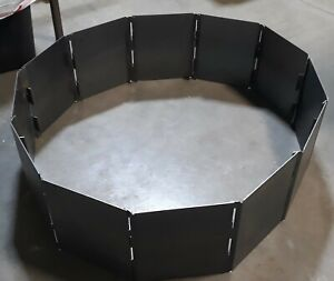 CAMPFIRE FIRE PIT RING 39 BLANKS HEAVY DUTY 12 GAUGE STEEL 12 PANEL