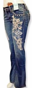 Montana West Trinity Ranch Discontinued Boot Cut Jeans Western Cowgirl Designer