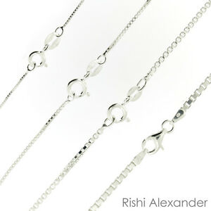 925 Sterling Silver BOX Chain Necklace All Sizes Stamped .925 Italy  $3.99