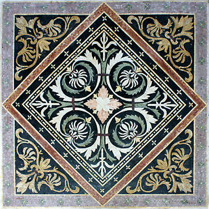 Abstract Floral Floor Carpet Art Home Design Marble Mosaic CR805