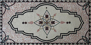 Arabian Lotus Majestic Carpet Design Marble Mosaic CR1204