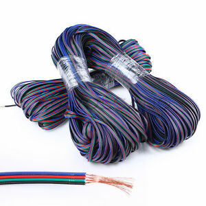 Wholesale 4-Pin 22AWG Extension Cable Wire RGB Connector for LED 3528 5050 Strip