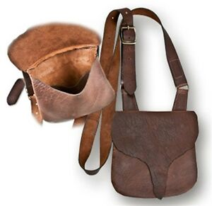 BUCKTAIL FLAP LONGHUNTERS BAG BUFFALO LEATHER  SHOOTERS HUNTING BLACK POWDER