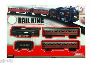rail king classical toy set locomotive with light