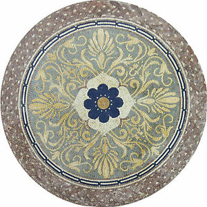 Round Center Flower Medallion Design Floor Pool Home Marble Mosaic MD976