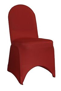 6 Pack Spandex Chair Cover Burgundy, Banquet Chair Covers,Stretch Slip Covers