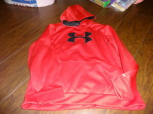 UNDER ARMOUR YXL XL RED HOODIE SHIRT BOYS