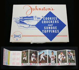 1955 Johnston Cookies Series 1 Folder with Hank Aaron -- NM-MT to MINT condition