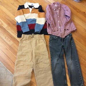 LOT of GYMBOREE amp; LEVIS Youth Clothes SHIRTS AND PANTS SZ 5 6 amp; 7