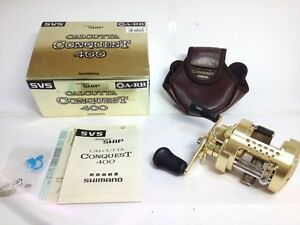 Shimano Calcutta CONQUEST 400 RightHandle Baitcasting Reel JAPAN Very good