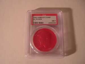 1955 Cleveland Indians Al Rosen Red Armour Coin PSA 7 $49.99