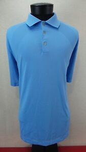 NIKE GOLF Shirt XXL Dri Fit Dry Polo Tiger Blue Size: Large