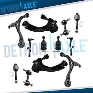 (12pc) Front Upper & Lower Control Arm Tierod 03-07 Honda Accord Acura TSX 2.4L