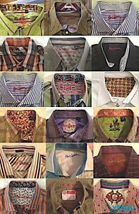 MIXED LOT OF 18 ROBERT GRAHAM LONG SLEEVE SPORT SHIRTS VALUE OF OVER $4000 EUC