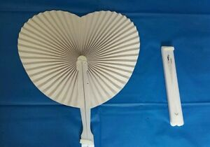 36 x Paper Heart Folding Fans - Chinese Loot/Party Bag Fillers Wedding favours
