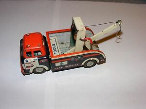 1960 line mar tin friction all state tow truck toy