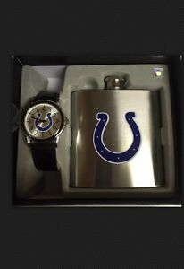 Indianapolis Colts Flask And Watch Gift Set