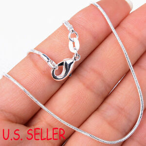 Real 925 Sterling Silver Italian Tarnish Resist Nickle FREE Snake Chain Necklace