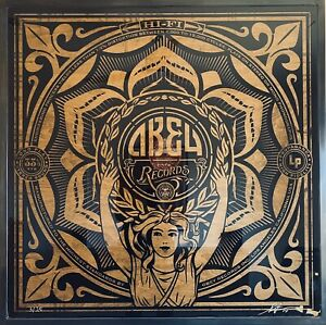Shepard Fairey Lotus Woman Fine Art Edition With Stenciled Record 2014