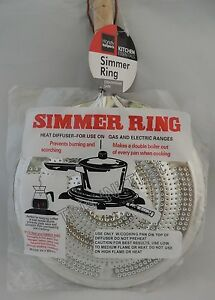 Stove top Metal Simmer Ring Heat Diffuser for Use on Gas and Electric Ranges $6.89