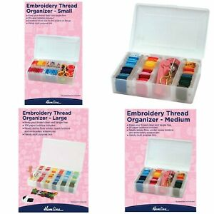 Embroidery Plastic Thread Organiser Sewing Craft Bobbins Material Choose Size GBP 7.49