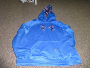 UNDER ARMOUR BOYS BLUE HOODIE YXL XL