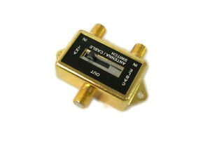 VIDEO COAXIAL AB SWITCH ANTENNA  CABLE  CATV  LCD TV GOLD PLATED BU-152