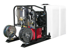 Hot2Go Gas Hot Water Pressure Washer Skid Package 4000 PSI 4.8 GPM Vanguard