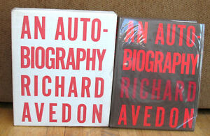 SIGNED Richard Avedon An Autobiography Shipping Box Marilyn Monroe Andy Warhol