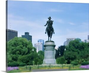 Premium Thick-Wrap Canvas Wall Art entitled Statue of George Washington in a
