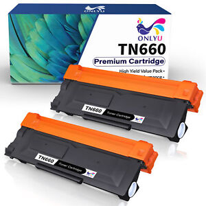 2 High Yield TN660 Toner Cartridge Compatible For Brother MFC L2740DW L2700DW $17.69