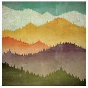 Mountain View Poster Art Print Mountain Home Decor