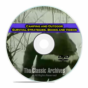 Camping and Survival Guides Wilderness Cooking 115 Books w video DVD E45
