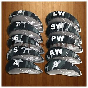 USA 10PCS 4# LW Grey Golf Iron Covers Headcovers For Cobra Taylormade Callaway $19.99