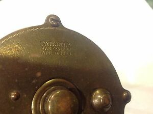 Vintage Brass Fishing Reel By 4 Brothers Mohawk Trade Mark $95.00