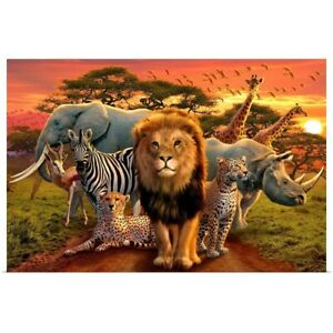 African Beasts Poster Print