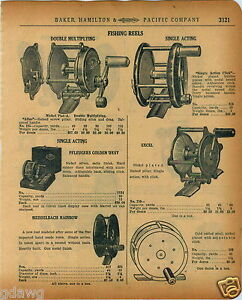 1920 PAPER AD Atlas Pfleuger Golden West Meisselbach Rainbow Fishing Reel 4 Bros $12.99