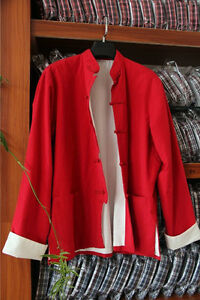100% Cotton Double thick Kung fu Tai chi Bruce Lee clothes Uniforms Jacket coat