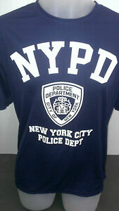 NYPD New York Police blue white print dry fit t shirts new wicking technology $12.00