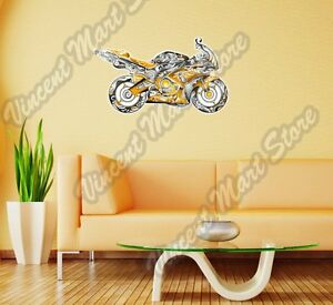 Sportbike Motorcycle Bike Abstract Wall Sticker Room Interior Decor 25