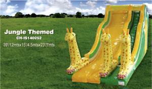 30x25x20 Commercial Inflatable Water Slide Obstacle Course Bouncer We Finance