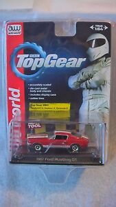 auto world 1 64 1967 ford mustang gt red new