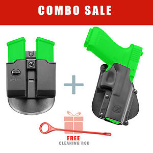 Fobus Holster & Mag Pouch for Glock 20  21 Double Stack .45 Cal - GL3 6954G Rod