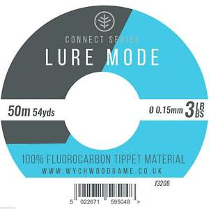 Wychwood Lure Mode 100% Fluorocarbon Tippet Material 5 Sizes Trout Game Fishing