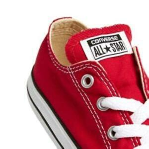 Converse Ox Kids Red White Infant Toddler Baby Boys Girls Shoes Sizes 2 3 4 $30.95