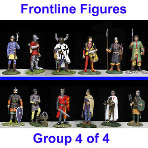 12 medieval metal 54mm toy soldier by