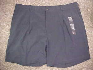 UNC Tar Heels Team Issued Hemmed Nike Teflon Navy Pro-Line Golf Shorts Size: 50