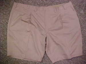 UNC Tar Heels Team Issued Hemmed Nike Dri Fit Tan Pro-Line Golf Shorts Size: 50