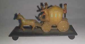 rare old vintage celluloid horse car made in